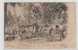 """1 Cpa Tahiti """" Préparation Du Coprah """" Pionnière écrite En 1904 - Tahiti"""