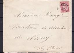 N° 58 / Enveloppe De Tamines   (lsc )  Vers NIMY - 1893-1900 Fine Barbe
