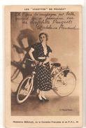 Artistes -  Femmes Celebres - Madeleine Renaud - Comedie Française -  Les Vedettes Peugeot  - Cycles -  CPA ° - Femmes Célèbres
