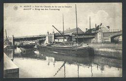 +++ CPA - AALST - ALOST - Pont Du Chemin De Fer Sur La Dendre - Brug Van Den Yzerenweg   // - Aalst