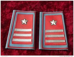Coppia Gradi Tubolari Luogotenente Carabinieri Per Camicia Estiva Nuovi - Polizia