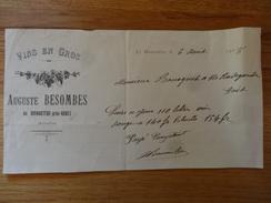 Monastere Pres Rodez Auguste Besombes Vins En Gros 1918 - Alimentaire