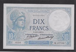 France 10 Francs Minerve - 12-5-1927 - Fayette N°6-12 - SUP - 1871-1952 Antichi Franchi Circolanti Nel XX Secolo