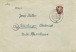 26569. Carta FAHRNAU (Alemania Zona Francesa Ocupation)  1945 - Zona Francesa