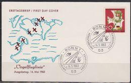 BRD FDC 1963 Nr.399 Einweihung Der Vogelfluglinie (d 3923 ) Günstige Versandkosten - BRD