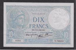 France 10 Francs Minerve - 7-11-1940 - Fayette N°7-19 - SPL - 1871-1952 Antichi Franchi Circolanti Nel XX Secolo