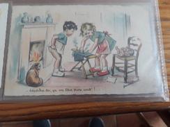 Carte Postale Dépêche-toi, ça Va être Trop Cuit !... Germaine Bouret - Niños