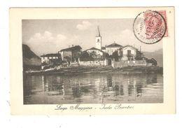 CPA Italie Lago Maggiore Isola Pescatori  Restaurant Del Verbano Eglise Maisons 1911 - Verbania