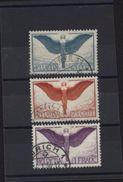Suisse Helvetia 65 Cent Aviation Papier Ordinaire Oblitérés YT Aviation 10a 11a 12a YT 2001 Cote 105 Euros - Airmail