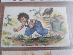 Carte Postale La Terreur Des Escargots... Germaine Bouret - Niños