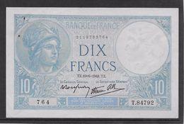 France 10 Francs Minerve - 19-6-1941 - Fayette N°7-29 - SUP - 1871-1952 Antichi Franchi Circolanti Nel XX Secolo