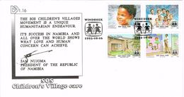 26574. Carta WINDHOEK (Namibia) 1993. Childrens Villages SOS - Namibia (1990- ...)