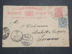 AUSTRALIE - Entier Postal + Complément De Bondi Pour L 'Allemagne En 1898 -  L 10452 - Briefe U. Dokumente