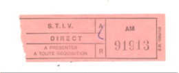 VERVIERS - Ticket De Tram, Tramway - S.T.I.V.  (b220) - Europe