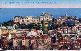 Monte Carlo - Vue Sur Le Casino, Les Jardins Et L'Hôtel De Paris (002065) - Monte-Carlo