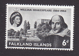Falkland Islands, Scott #149, Used, Shakespeare, Issued 1964 - Falkland
