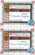 Anvers Antwerpen Dames De L'Instruction Chretienne  Lange Nieuwstraat   Meir   Le Grelle  Erekaarten  2   1954 1953 - Diploma & School Reports