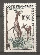 C  SOMALIS - Yv.  N° 289  ** MNH  50c  Gazelle  Cote 2,3 Euros  TBE 2 Scans - Côte Française Des Somalis (1894-1967)