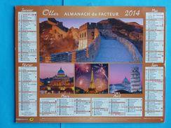 CALENDRIER  ALMANACH  DU  FACTEUR  2014  NEUF - Calendars