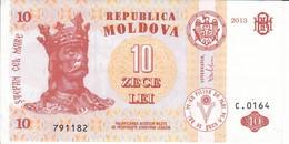 BILLETE DE MOLDAVIA DE 10 LEI DEL AÑO 2013 EN CALIDAD EBC (XF) (BANKNOTE) - Moldova