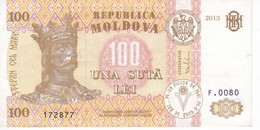 BILLETE DE MOLDAVIA DE 100 LEI DEL AÑO 2013 EN CALIDAD EBC (XF) (BANKNOTE) - Moldova