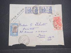 COTE DES SOMALIS - Enveloppe Par Avion De Djibouti Pour Paris En 1939 Avec Contrôle Postal -  L 10457 - Côte Française Des Somalis (1894-1967)