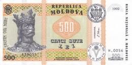 BILLETE DE MOLDAVIA DE 500 LEI DEL AÑO 1992 EN CALIDAD EBC (XF)  (BANKNOTE) - Moldova