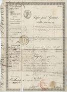 PASSEPORT  Gratuit Londres Grande Bretagne Paris Mulhouse St.Louis  Bâle Berne 1836 - Documents Historiques