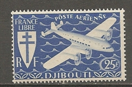 C  SOMALIS - PA  Yv.  N° 5   ** MNH   25f   Série Londres  Cote  3,2  Euros  TBE 2 Scans - Côte Française Des Somalis (1894-1967)