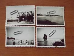 WW2 GUERRE 39 45  SAINT PIERRE QUIBERON SOLDATS ALLEMANDS SE BAIGNANT 4  PHOTOS  RARE VOIR SCANS - Unclassified