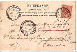 Westervoort Spoorbrug 1905 En 1906 Afstempeling  Singapore Trein Amsterdam-Emmerich  Nederlands Indië 1196 Indonesia - Nederlands-Indië
