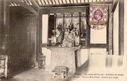 Cpa 1910 Chusan, île Sacrée De Poo-too Intérieur De Temple    (53.22) - China (Hong Kong)