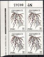 Perú 1972 BL4 YT A362 ** Quipu, Medio De Comunicacion Del Tahuantisuyo. See - Perù
