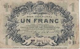 BILLETE DE FRANCIA DE 1 FRANC DEL AÑO 1917 DE LA VILLE DE LILLE  (BANKNOTE) PIROT: 59-1636 - Bonos