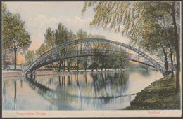 Suspension Bridge, Bedford, Bedfordshire, C.1905-10 - Milton Artlette Postcard - Bedford