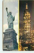 ETATS UNIS NEW YORK STATUE DE LA LIBERTE AVEC L'EMPIRE STATE BUILDING - Statue De La Liberté