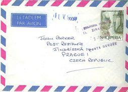 ALBANIA 1996 Cover From Tirana To Prague With Amundsen SG 2604 - Albanien
