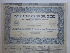 Les Celebres MAGASINS MONOPRIX - Actions & Titres
