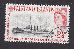 Falkland Islands, Scott #150, Used, HMS Glasgow, Issued 1964 - Falkland Islands