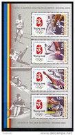 ROMANIA 2008 Olympic Games, Beijing Block MNH / **.  Michel Block 424 - Blocks & Sheetlets