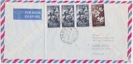 "SPAIN SAHARA 1965 (28.9.) COMMERC.AIRMAIL COVER POSTMARK ""Aaiun"" TO GERMANY - Spanien"