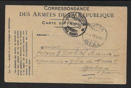 Cart F M  Utilisée Par L'armée Serbe - Marcofilia (sobres)