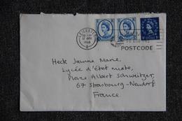 Lettre D'ANGLETERRE ( LEICESTER) Vers FRANCE ( STRASBOURG) - 1952-.... (Elizabeth II)