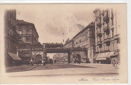 Milano - Corso Buenos Aires - Treno Vapore Sul Ponte - Francobollo! - 1927        (A-60-140809) - Milano