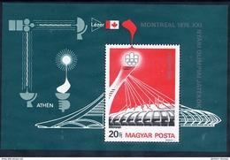 HUNGARY 1976 Olympic Games Block MNH / **.  Michel Block 119 - Blocks & Sheetlets