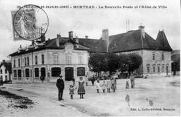 CPA De MORTEAU (Doubs) - La Nouvelle Poste Et L'Hôtel De Ville. Gaillard-Prêtre N° 258. Circulée En 1918. Bon état. - Altri Comuni