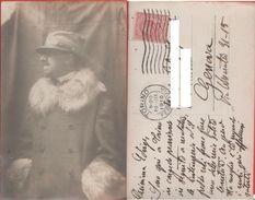 Gabriele D'Annunzio. Fotografica. Viaggiata 1916 - Personaggi Storici