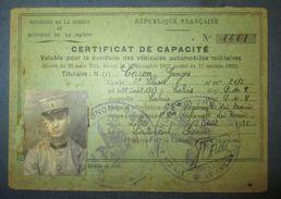 Permis De Conduire Militaire C.1930 - Documents