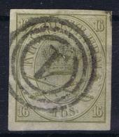 Denmark: Mi 15 U  Obl./Gestempelt/used Ungezahnt   1864  Has A Small Thin - 1864-04 (Christian IX)