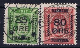 Denmark: Fa 122 - 123  Mi 81 Obl./Gestempelt/used  1915 - 1913-47 (Christian X)
